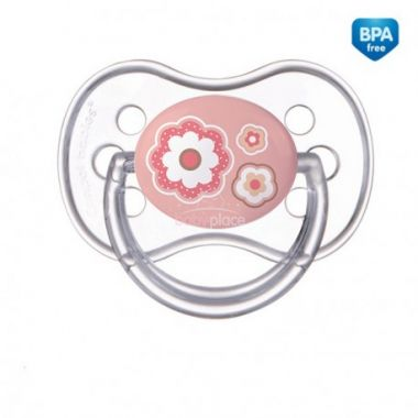 Canpol Newborn baby silikonové symetrické šidítko růžová