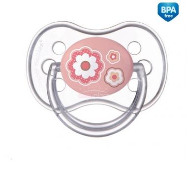 Canpol Newborn silikonové šidítko anatomické růžová