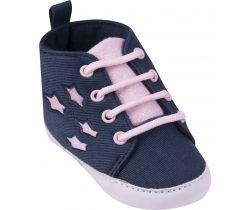 Capačky s tkaničkami Yo Blue-Pink Stars