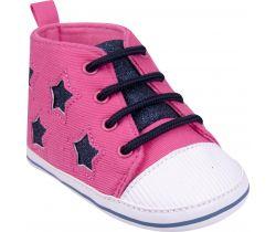 Capačky s tkaničkami Yo Pink-Black Stars