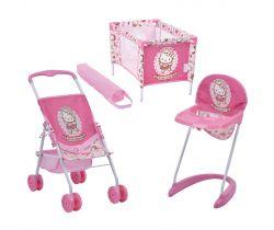 Cestovní set pro panenky Hauck Toys Hello Kitty