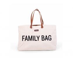 Cestovní taška Childhome family Bag Teddy Off White