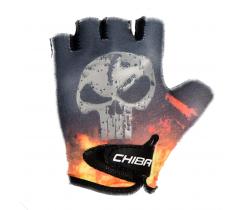 Cyklistické rukavice pro děti Chiba Cool Kids Lebka