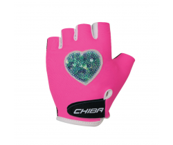 Cyklistické rukavice pro děti Chiba Cool Kids Srdce