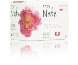 Dámské ECO tampóny Naty - regular (18 ks)