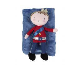 Dárková sada flísová deka + hračka princ Bizzi Growin Royal Family