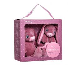 Dárkový set My Teddy Newborn collection Můj malý zajíček a muchláček