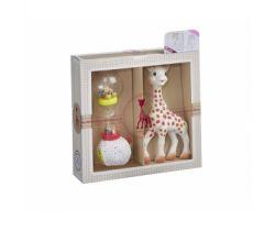 Dárkový set žirafa + měkké marakasy Vulli Sophie