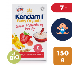 Dětská banánovo-jahodová kaše 150 g Kendamil Organic Bio