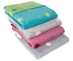 Dětská deka 75x100 cm ByBoom Bavlněný fleece se vzorem