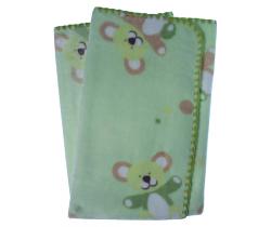 Dětská deka 80x90 cm LitlleUp Green
