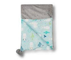 Dětská deka minky 70x100 cm Glück Lama
