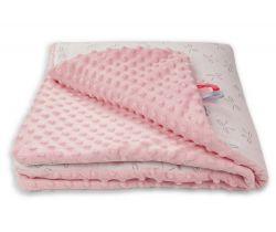 Dětská deka minky 80x80 cm Glück Mickey/Bows