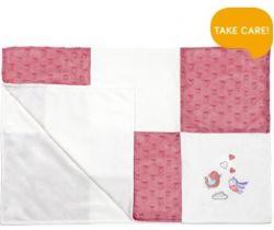 Dětská deka minky BabyOno Pink Birds