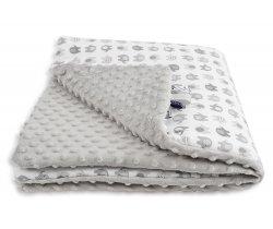 Dětská deka minky LittleUp Elephant grey