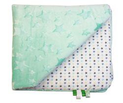 Dětská deka minky LittleUp Menthol Stars