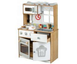 Dětská dřevěná kuchyňka s oknem EcoToys