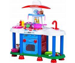 Dětská kuchyňka se zvuky a světlem EcoToys Blue