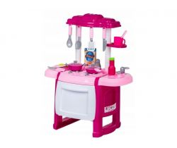 Dětská kuchyňka se zvuky a troubou EcoToys Pink