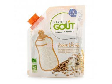 Dětská ovesná, pšeničná a rýžová instantní kaše v prášku 200 g Good Gout Bio