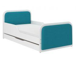 Dětská postel se šuplíkem čalouněná Wooden Toys Casablanca Blue
