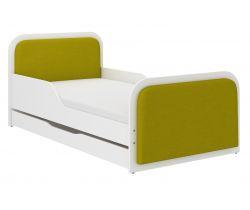 Dětská postel se šuplíkem čalouněná Wooden Toys Casablanca Green