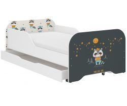 Dětská postel se šuplíkem Wooden Toys Miki Badger