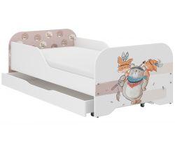 Dětská postel se šuplíkem Wooden Toys Miki Bear