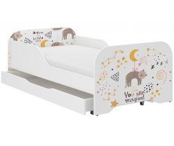 Dětská postel se šuplíkem Wooden Toys Miki Cat