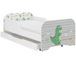 Dětská postel se šuplíkem Wooden Toys Miki Dino