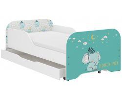 Dětská postel se šuplíkem Wooden Toys Miki Elephant
