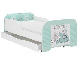 Dětská postel se šuplíkem Wooden Toys Miki Friends