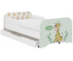 Dětská postel se šuplíkem Wooden Toys Miki Giraffe