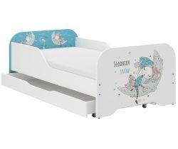 Dětská postel se šuplíkem Wooden Toys Miki Sleepyhead