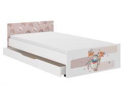 Dětská postel se šuplíkem Wooden Toys Pufi Bear