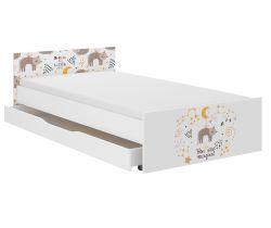 Dětská postel se šuplíkem Wooden Toys Pufi Cat