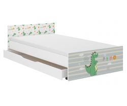 Dětská postel se šuplíkem Wooden Toys Pufi Dino