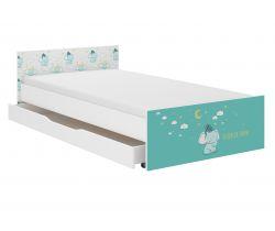Dětská postel se šuplíkem Wooden Toys Pufi Elephant