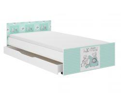 Dětská postel se šuplíkem Wooden Toys Pufi Friends