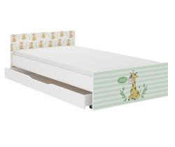Dětská postel se šuplíkem Wooden Toys Pufi Giraffe