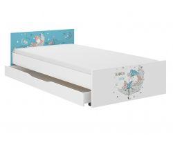 Dětská postel se šuplíkem Wooden Toys Pufi Sleepyhead