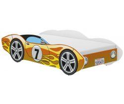 Dětská postel Wooden Toys Corvetta Flames Yellow
