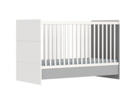 Dětská variabilní postýlka 140x70 cm Faktum Alda Grey