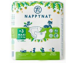 Pleny Nappynat Natural Care Maxi 3 (8-16 kg) 20 ks
