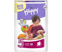 Pleny Bella Baby Happy Junior 5 (12-25 kg) 58 ks