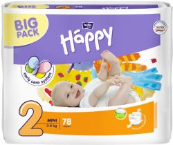 Pleny Bella Baby Happy Mini 2 (3-6 kg) 78 ks