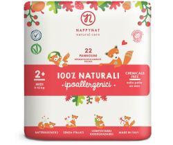 Pleny Nappynat Natural Care Midi 2 (4-10 kg) 22 ks