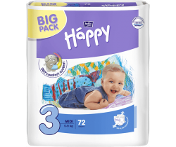 Pleny Bella Baby Happy Midi 3 (5-9 kg) 72 ks
