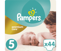 Pleny Pampers Premium Care Junior 5 (11-16 kg) 44 ks