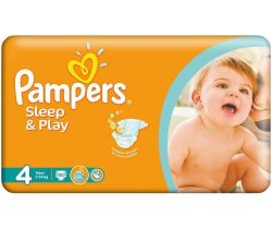 Pleny Pampers Sleep&Play Maxi 4 (7-14 kg) 50 ks